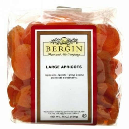 Bergin Fruit and Nut Company, 大アプリコット、454g(16oz)