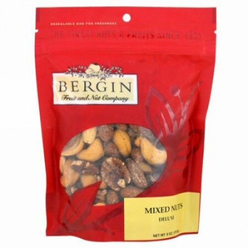 Bergin Fruit and Nut Company, Mixed Nuts, Deluxe, 6 oz (170 g) (Discontinued Item)