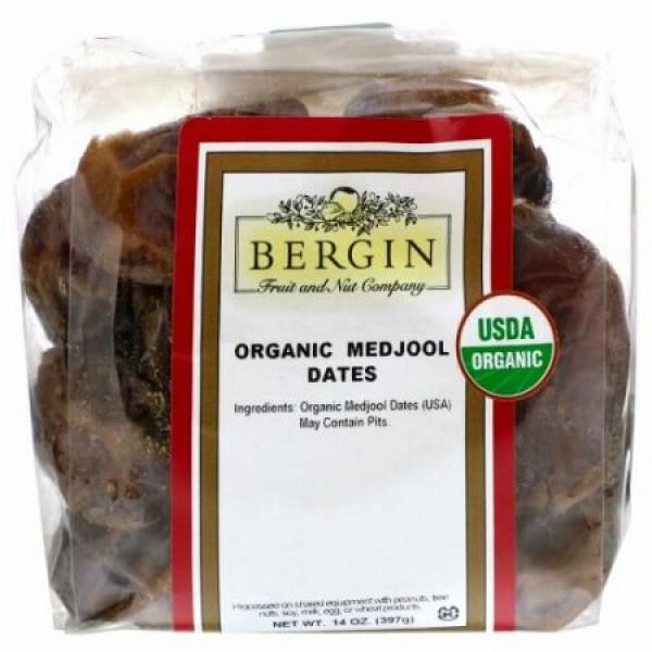 Bergin Fruit and Nut Company, オーガニックなつめやし、397g(14oz)