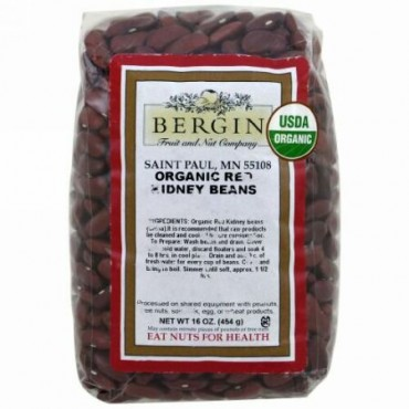 Bergin Fruit and Nut Company, Organic Red Kidney Beans, 16 oz (454 g) (Discontinued Item)