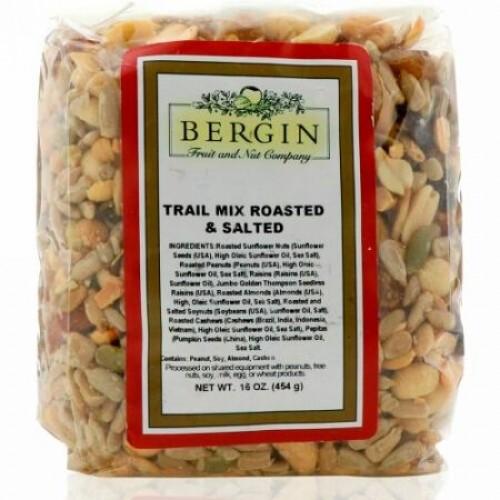 Bergin Fruit and Nut Company, トレイルミックス・ロースト&ソルト, 16 オンス (454 g) (Discontinued Item)