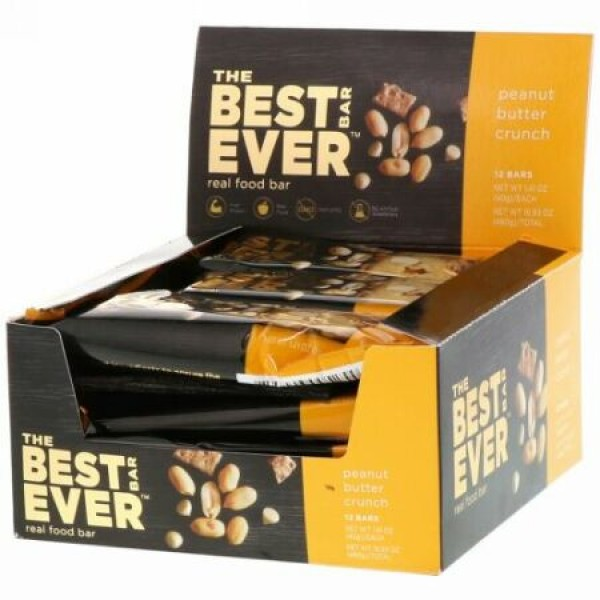 Best Bar Ever, Peanut Butter Crunch, 12 Bars, 1.41 oz (40 g) Each (Discontinued Item)
