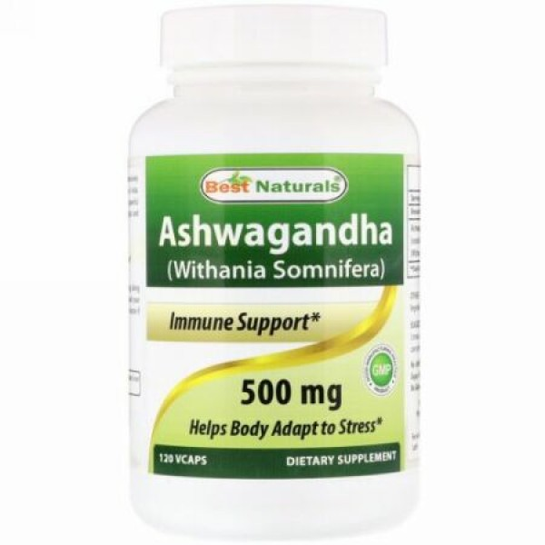 Best Naturals, Ashwagandha (Withania Somnifera), 500 mg , 120 VCaps (Discontinued Item)