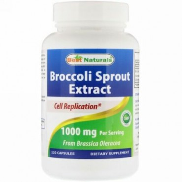 Best Naturals, ブロッコリーの芽エキス、1000 mg、120カプセル (Discontinued Item)