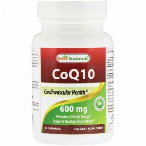 Best Naturals, CoQ10、600 mg、60カプセル (Discontinued Item)