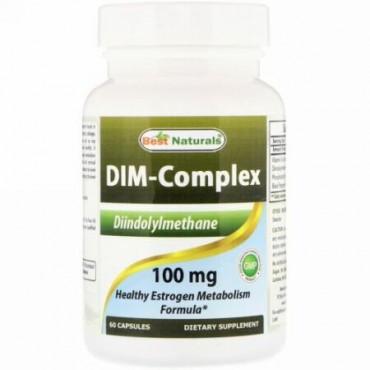 Best Naturals, Dim-コンプレックス(Dim-Complex)、100 mg、60カプセル (Discontinued Item)