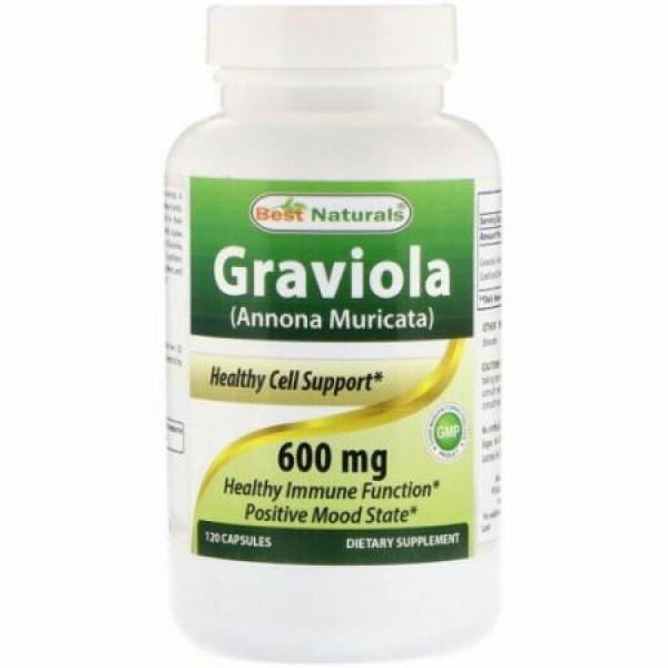 Best Naturals, Graviola (Annona Muricata), 600 mg, 120 Capsules (Discontinued Item)