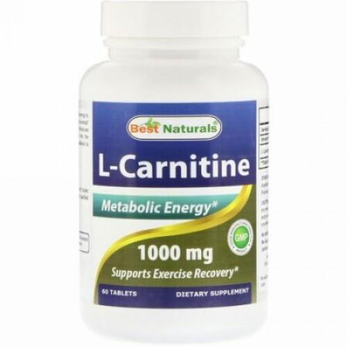 Best Naturals, L-カルニチン、1000mg、100錠 (Discontinued Item)