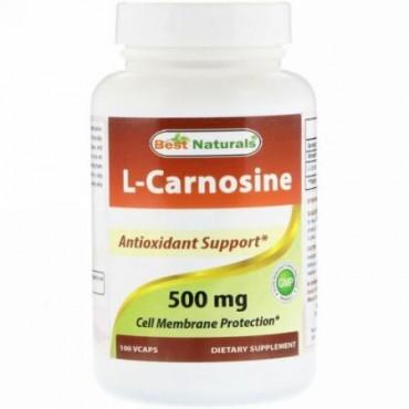 Best Naturals, L-Carnosine, 500 mg , 100 VCaps (Discontinued Item)