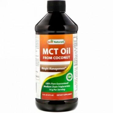 Best Naturals, MCTオイル、ココナッツ由来、16液量オンス (473ml) (Discontinued Item)
