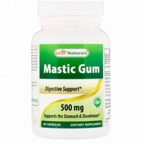 Best Naturals, マスティックガム、500 mg、60カプセル (Discontinued Item)