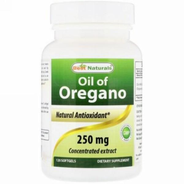 Best Naturals, Oil of Oregano, 250 mg , 120 Softgels (Discontinued Item)