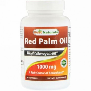 Best Naturals, Red Palm Oil, 1,000 mg, 90 Softgels (Discontinued Item)