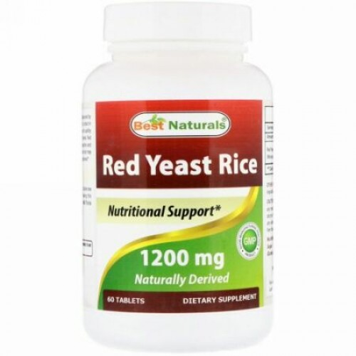 Best Naturals, Red Yeast Rice, 1200 mg, 60 Tablets (Discontinued Item)
