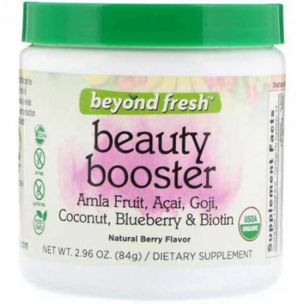 Beyond Fresh, Beauty Booster, Berry Flavor, Coconut, Blueberry and Biotin, Natural Berry Flavor, 2.96 oz (84 g) (Discontinued Item)