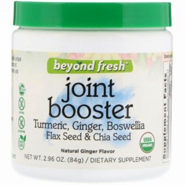 Beyond Fresh, Joint Booster, Tumeric, Ginger, Boswellia, Flax Seed & Chia Seed, Natural Ginger Flavor, 2.96 oz (84 g) (Discontinued Item)