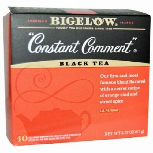 Bigelow, コンスタントコメント、ブラックティー、40ティーバッグ、2.37 oz (67 g) (Discontinued Item)