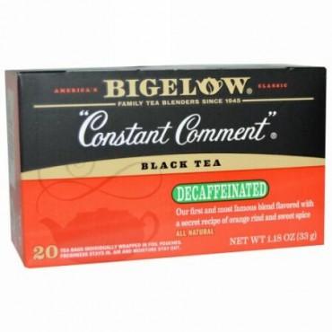 Bigelow, ブラックティー、コンスタントコメント、カフェイン抜き、20ティーバッグ、1.18 oz (33 g) (Discontinued Item)