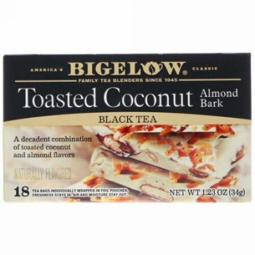 Bigelow, Toasted Coconut Almond Bark, 1.23 oz (34 g) (Discontinued Item)