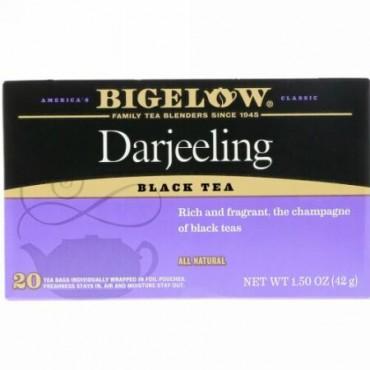 Bigelow, ダージリン紅茶、ティーバッグ20袋、1.50 oz (42 g) (Discontinued Item)