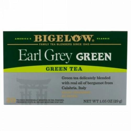 Bigelow, アールグレーグリーンティー、ティーバッグ20個、1.05 oz (29 g) (Discontinued Item)