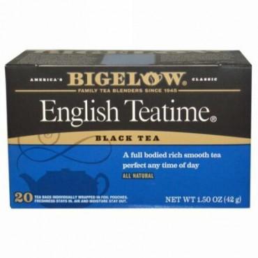 Bigelow, イングリッシュティータイム、 20ティーバッグ、 1.50 oz (42 g) (Discontinued Item)