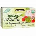 Bigelow, Organic White Tea with Raspberry & Chrysanthemum, White Tea, 20 Bags, .91 oz (25 g) (Discontinued Item)