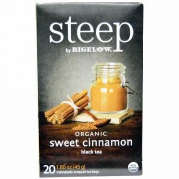 Bigelow, Steep, Organic Sweet Cinnamon Tea, 20 Tea Bags, 1.60 oz (45 g) (Discontinued Item)