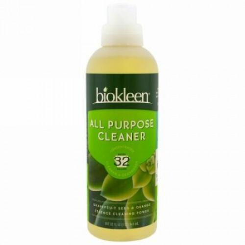 Bio Kleen, 多目的クリーナー、濃縮、グレープフルーツ シード & オレンジ、32 fl oz (946 ml) (Discontinued Item)
