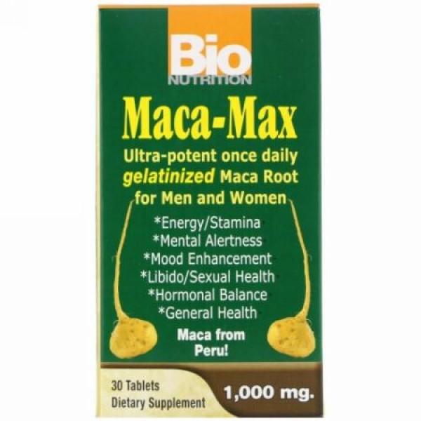 Bio Nutrition, マカマックス、 1000 mg、 30錠