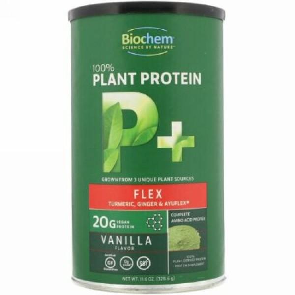 Biochem, 100%植物プロテイン、P+フレックス、バニラフレーバー、11.6オンス (328.6 g) (Discontinued Item)