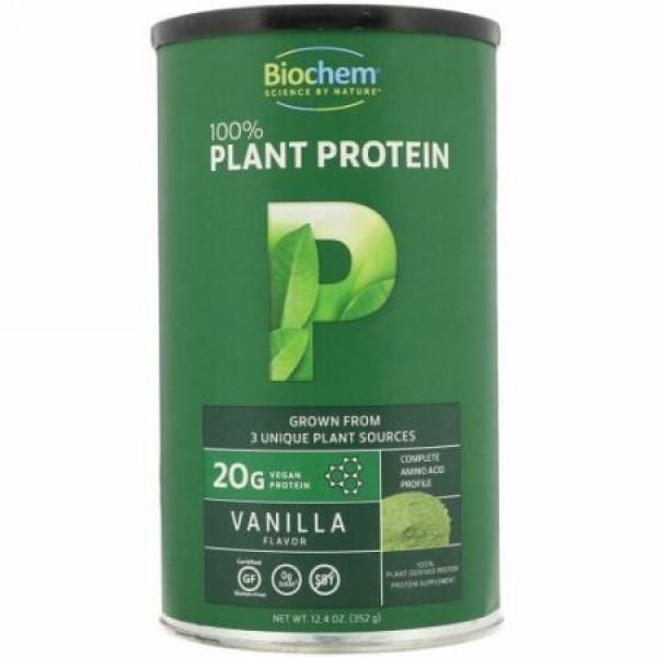 Biochem, 100%植物プロテイン、バニラフレーバー、12.4オンス (352 g) (Discontinued Item)