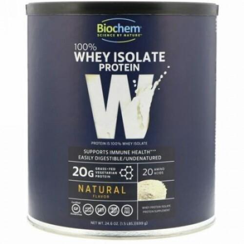 Biochem, 100%ホエイタンパク質分離物、天然、699g(24.6オンス)