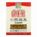 Bionaturae, 100%オーガニックグルテンフリー、ライス&レンズ豆パスタ、エルボ、340g(12オンス)
