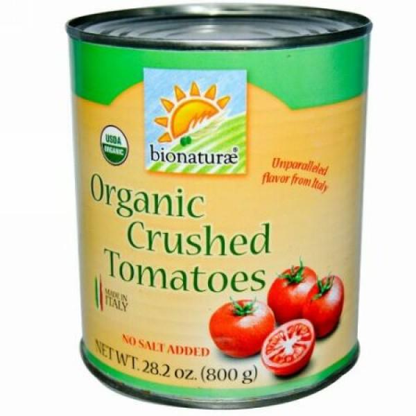 Bionaturae, オーガニック クラッシュトマト, 塩無添加, 28.2 オンス (800 g) (Discontinued Item)