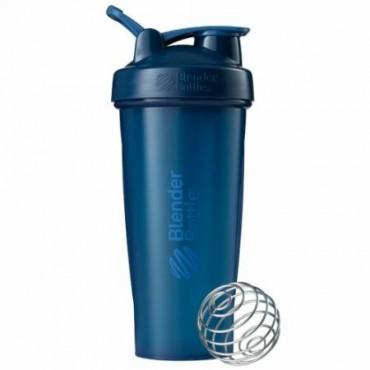 Blender Bottle, BlenderBottle、クラシック (ループ付き)、ネイビー、28 oz (Discontinued Item)