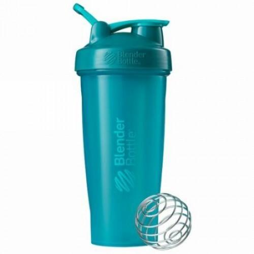Blender Bottle, BlenderBottle(ブレンダーボトル)、クラシック(ループ付き)、青緑色、28 oz (Discontinued Item)