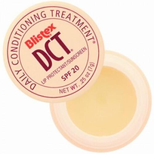 Blistex, DCT (デイリーコンディショニングトリートメント) フォー リップス, SPF 20, 0.25 oz (7.08 g)