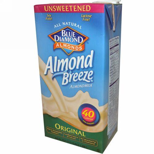 Blue Diamond, ブルーダイアモンド, アーモンドブリーズ, アーモンドミルク, オリジナル, 無糖, 64 fl oz (1.89 L) (Discontinued Item)