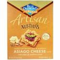 Blue Diamond, Artisan Nut-Thins、アジアーゴチーズ クラッカースナック、4.24 オンス (120.5 g) (Discontinued Item)