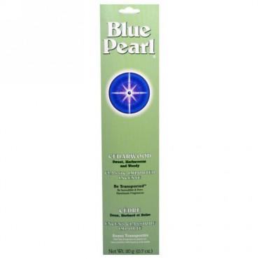 Blue Pearl, シダーウッド、クラシックインポートインセンス、0.7 oz (20 g) (Discontinued Item)