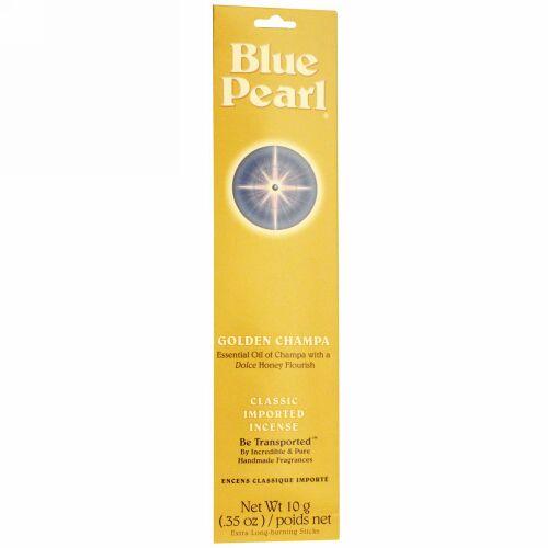 Blue Pearl, クラシック輸入インセンス(線香)、ゴールデン チャンパ、0.35オンス(10 g) (Discontinued Item)