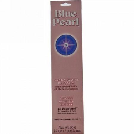 Blue Pearl, クラシック輸入インセンス(線香)、サンダルウッドブロッサム、0.7オンス(20 g) (Discontinued Item)