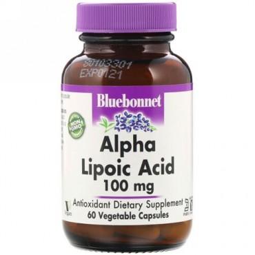 Bluebonnet Nutrition, アルファリポ酸、100 mg、60ベジキャップ (Discontinued Item)