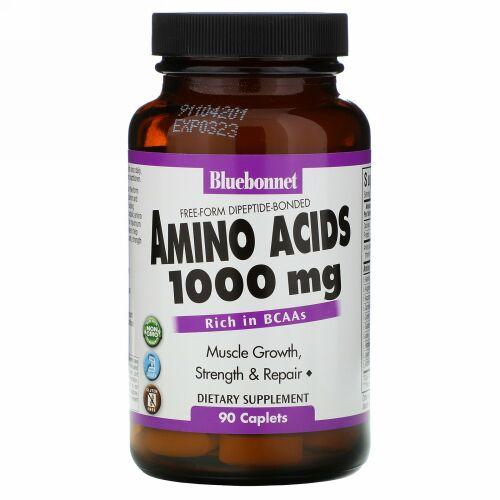 Bluebonnet Nutrition, アミノ酸、 1000 mg、 90カプセル