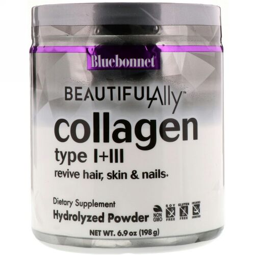 Bluebonnet Nutrition, Beautiful Ally, Collagen Type I + III, 6.9 oz ( 198 g) (Discontinued Item)
