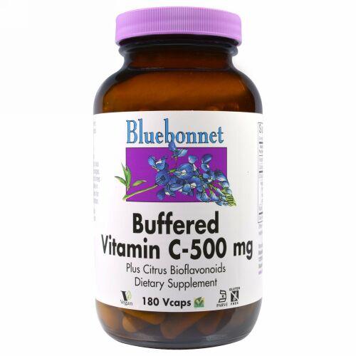 Bluebonnet Nutrition, バッファード ビタミンC、500 mg、180ベジカプセル