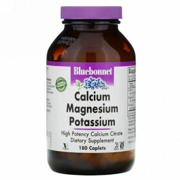 Bluebonnet Nutrition, カルシウム マグネシウム カリウム、180カプレット