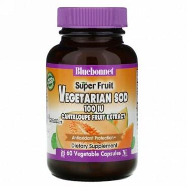 Bluebonnet Nutrition, カンタロープ、メロン果実エキス、100 IU、60 Vcaps®(ベジカプセル)