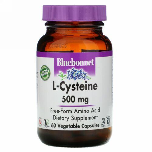 Bluebonnet Nutrition, L-Cysteine, 500 mg, 60 Veggie Capsules